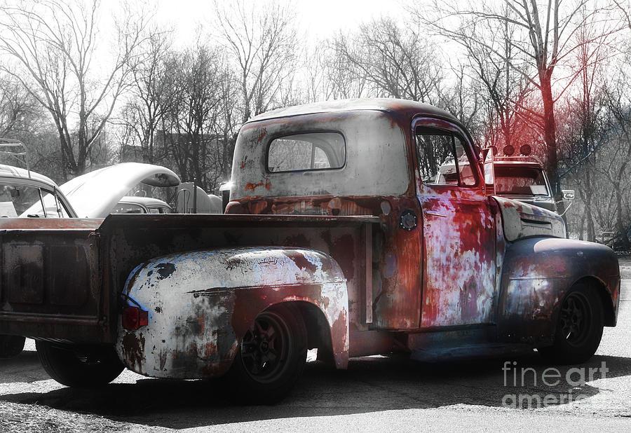 Truck Photograph - 1950s Truck  Patina  by Steven Digman