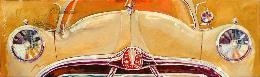 Transportation Painting - 1951 Hudson Hornet by Ron Patterson