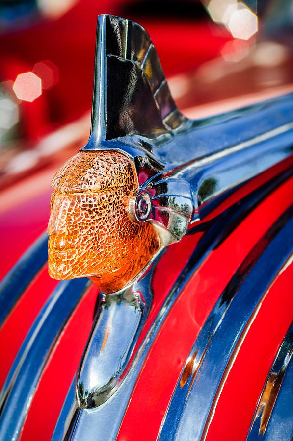 Classic Pontiac Photograph - 1951 Pontiac Chief Hood Ornament by Jill Reger