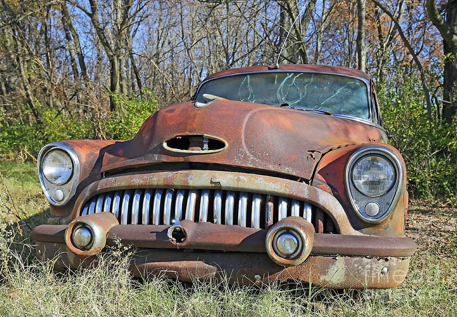 Automobile Photograph - 1952 Buick For Sale by Steve Gass