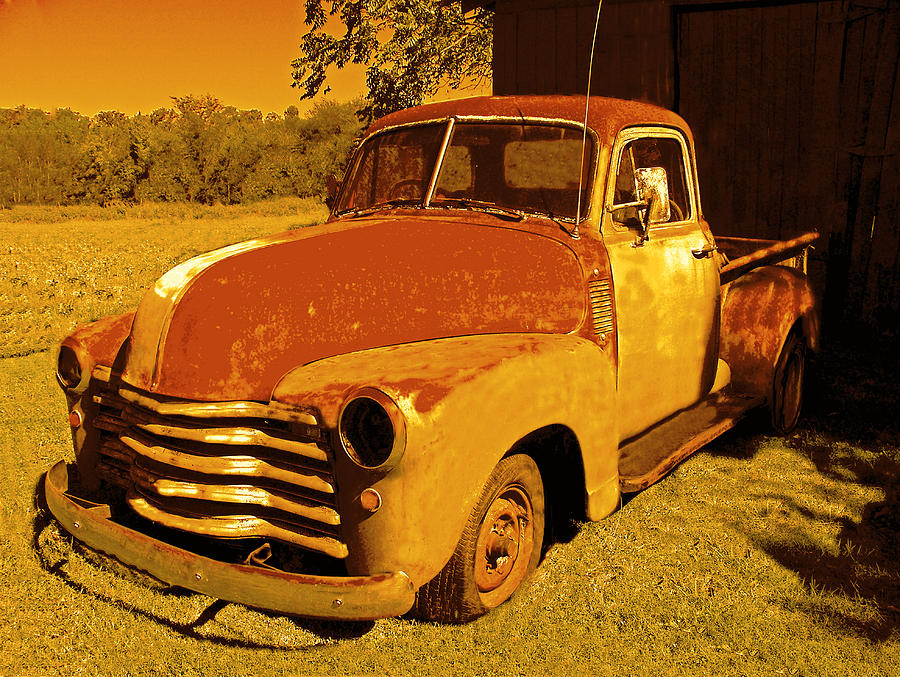 Chevy Truck Photograph - 1952 Chevrolet 3100 Series Pickup by Kornel J Werner