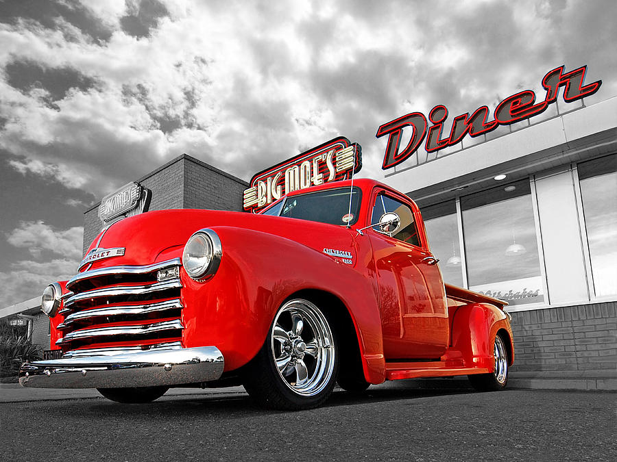 1952 Chevrolet Truck at the Diner by Gill Billington