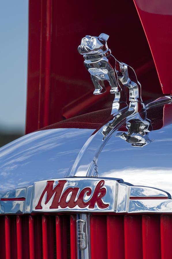 1952 L Model Mack Pumper Fire Truck Photograph - 1952 L Model Mack Pumper Fire Truck Hood Ornament by Jill Reger