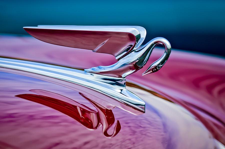 Car Photograph - 1952 Packard 400 Hood Ornament by Jill Reger