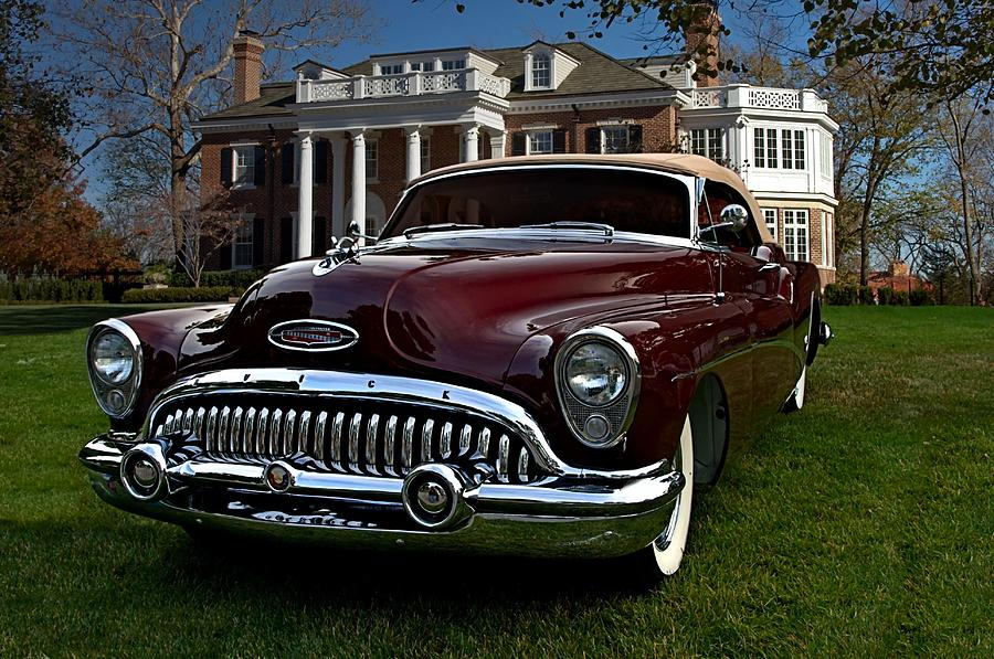 1953 Buick Skylark Convertible Photograph By Tim Mccullough
