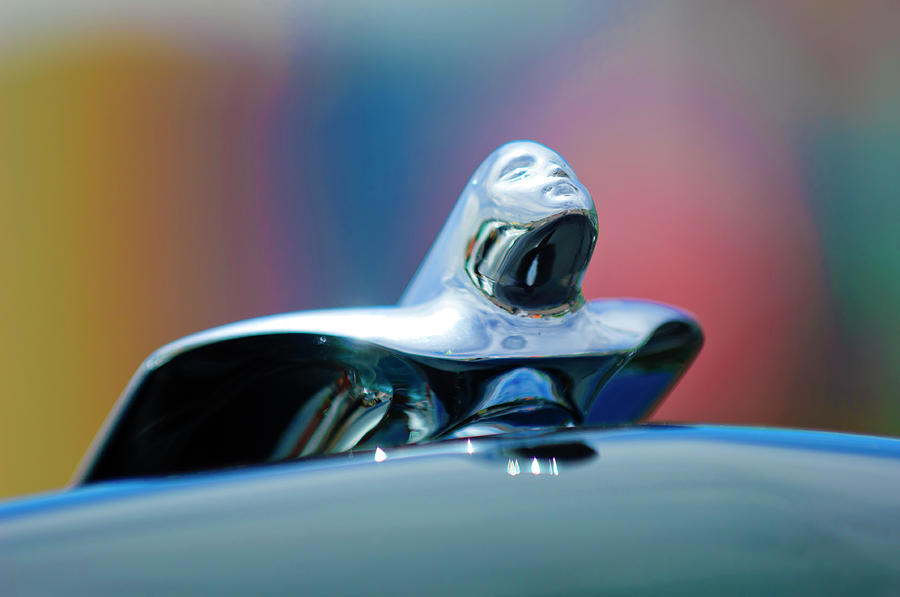 Hoodie Photograph - 1953 Cadillac Hood Ornament by Jill Reger