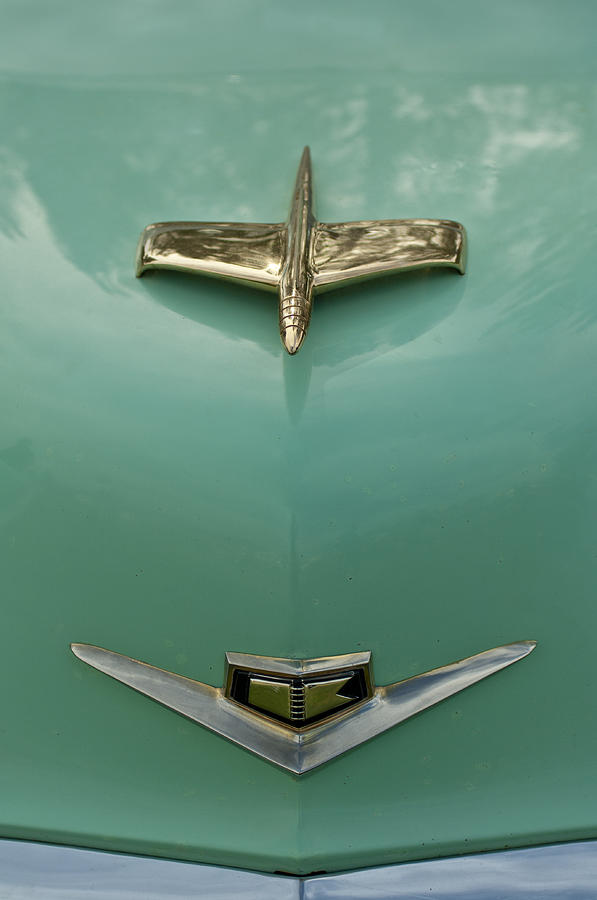 Hood Ornament Photograph - 1953 Golden Dragon Kaiser Hood Ornament 2 by Jill Reger