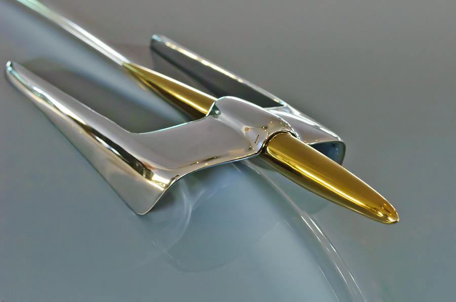 1953 Lincoln Photograph - 1953 Lincoln Hood Ornament by Jill Reger