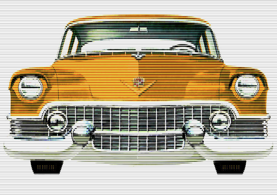 1954 Cadillac Gold Mixed Media By Charlie Ross