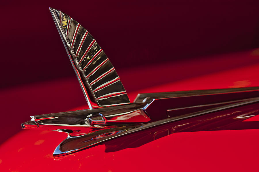Hoodie Photograph - 1954 Ford Cresline Sunliner Hood Ornament by Jill Reger