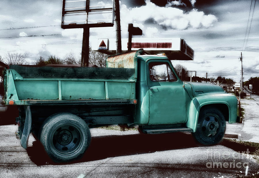 Trucks Photograph - 1954 Ford F500 by Steven Digman