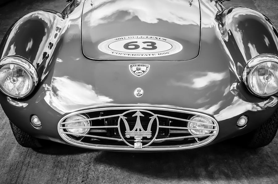 Bw Photograph - 1954 Maserati A6 Gcs -0255bw by Jill Reger