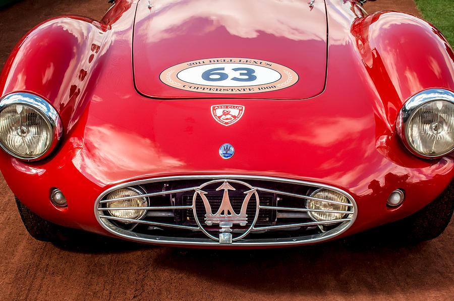 Vintage Maserati Photograph - 1954 Maserati A6 Gcs Grille -0255c by Jill Reger