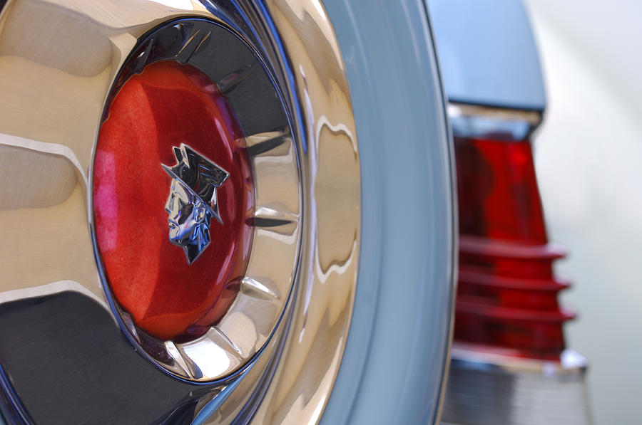 Car Photograph - 1954 Mercury Monterey Merco Matic Spare Tire by Jill Reger