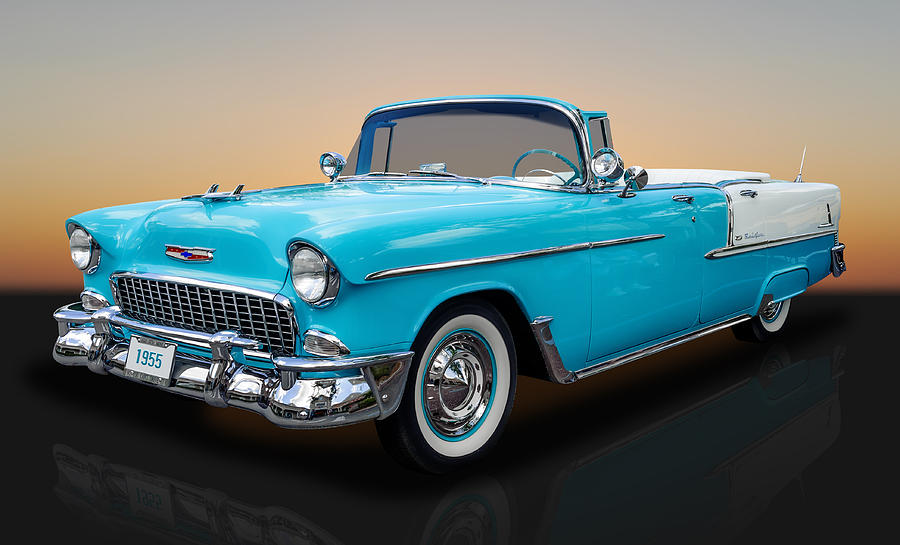Hot Rod Photograph   1955 Chevrolet Bel Air 4 Door Convertible By Frank J  Benz