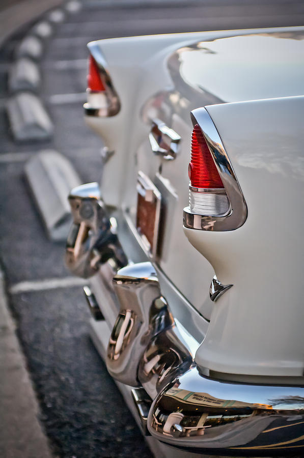 1955 Chevrolet Belair Photograph - 1955 Chevrolet Belair Tail Lights by Jill Reger