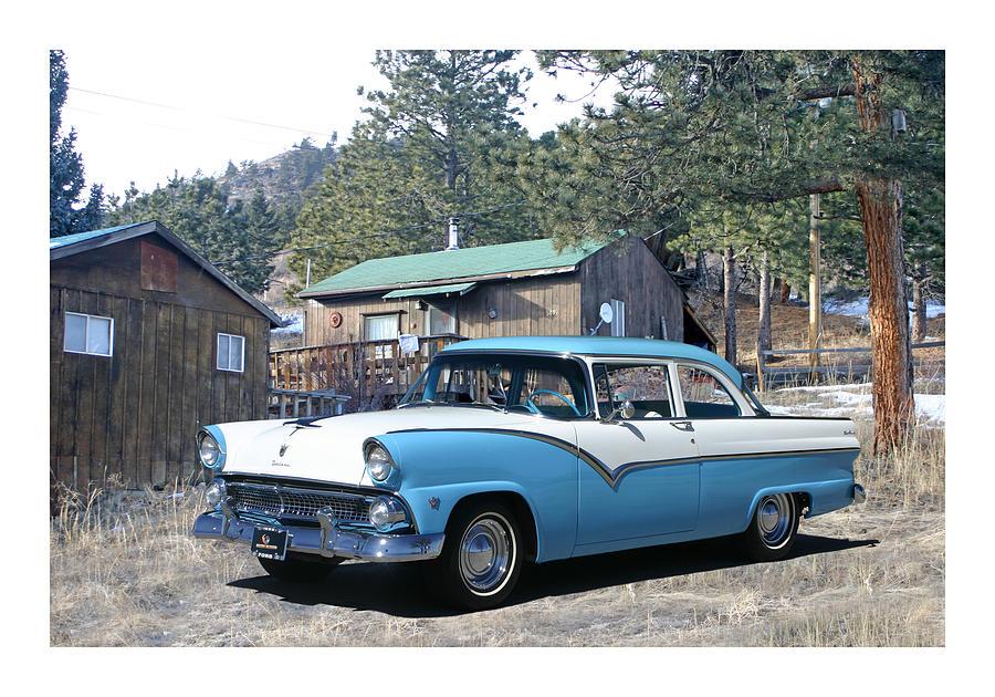1955 Ford Custom Fairlane Photograph by Jack Pumphrey