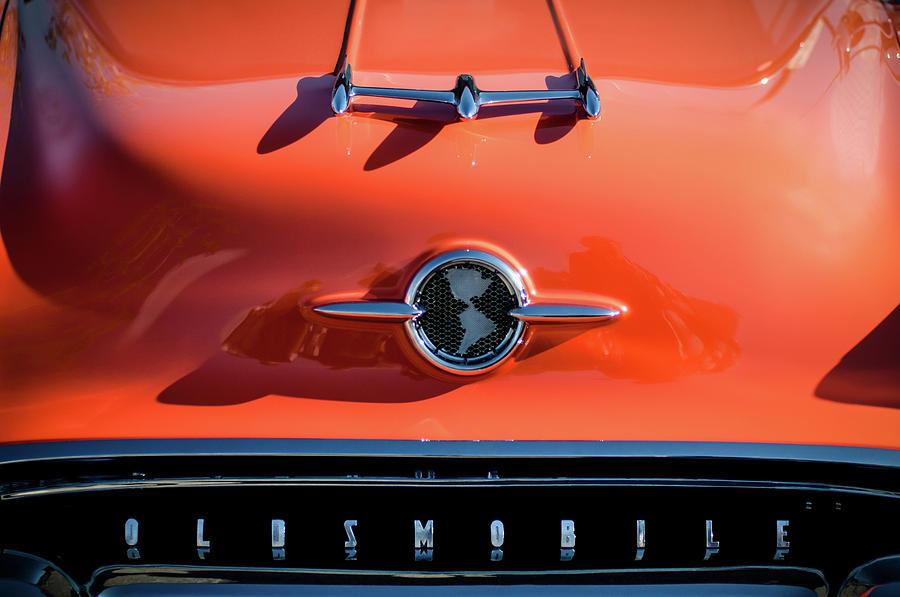 Car Photograph - 1955 Oldsmobile Rocket 88 Hood Ornament by Jill Reger