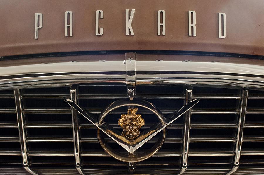 1955 Packard 400 Photograph - 1955 Packard 400 Hood Ornament 2 by Jill Reger