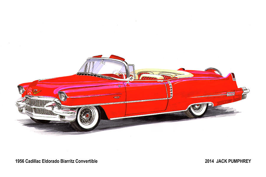 1956 Cadillac Series 62 Convertible Painting