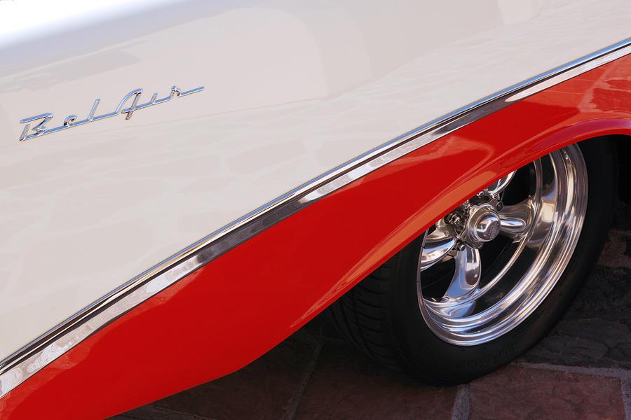 Chevy Photograph - 1956 Chevrolet Belair Convertible Wheel by Jill Reger