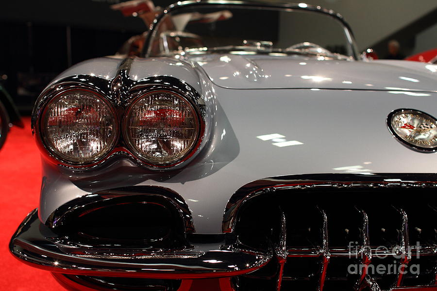 Corvette Photograph - 1956 Chevy Corvette . Front View by Wingsdomain Art and Photography