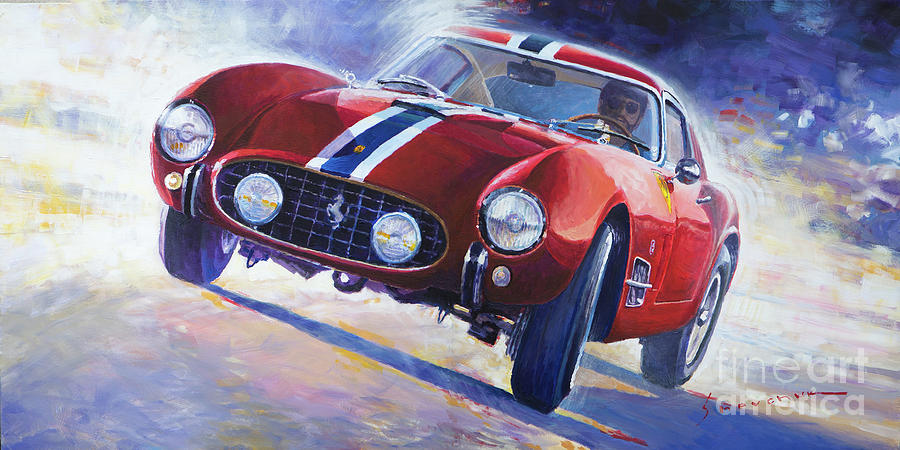 Automotive Painting - 1956 Ferrari 250 Gt Berlinetta Tour De France by Yuriy Shevchuk