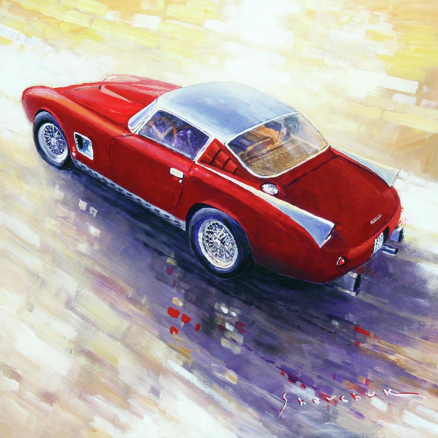 Automotive Painting - 1956 Ferrari 410 Superamerica Scaglietti Series by Yuriy Shevchuk