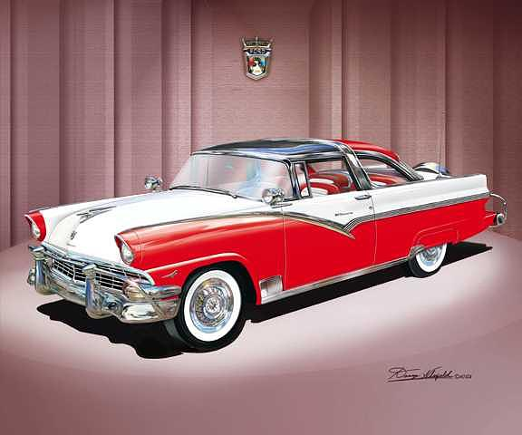 1956 Ford Fairlane Crown Victoria Mixed Media - 1956 Ford Fairlane Crown Victoria by Danny Whitfield