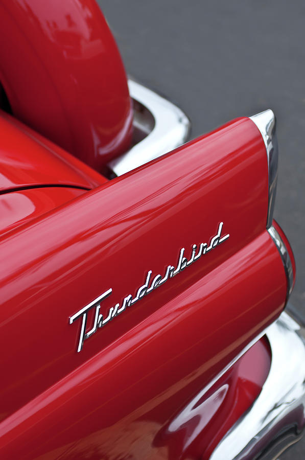 1956 Ford Thunderbird Photograph - 1956 Ford Thunderbird Taillight Emblem 2 by Jill Reger