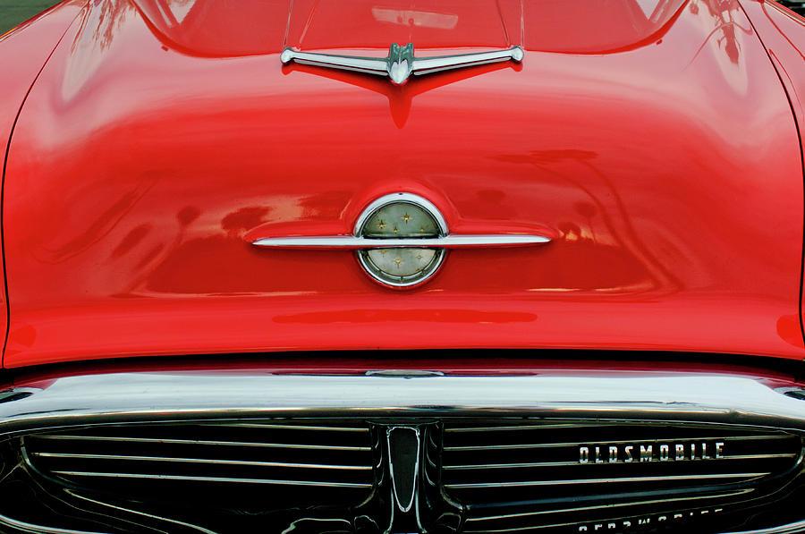 Hoodie Photograph - 1956 Oldsmobile Hood Ornament 4 by Jill Reger