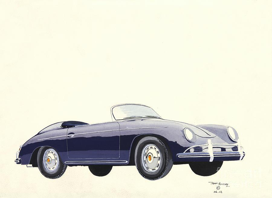 1956 Porsche 356a Speedster Painting By John Kinsley