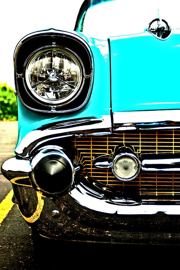 1957 Bel Air Headlight And Grille Photograph