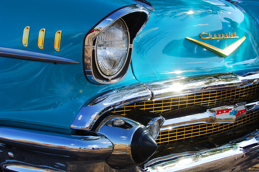 1950's Photograph - 1957 Chevrolet Belair Grille by Jill Reger