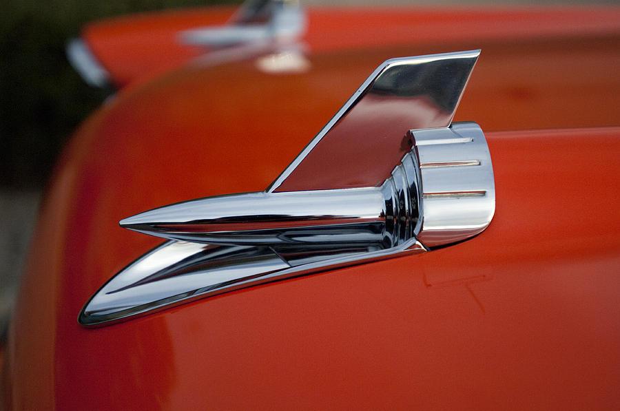 1957 Chevrolet Photograph - 1957 Chevrolet Hood Ornament by Jill Reger