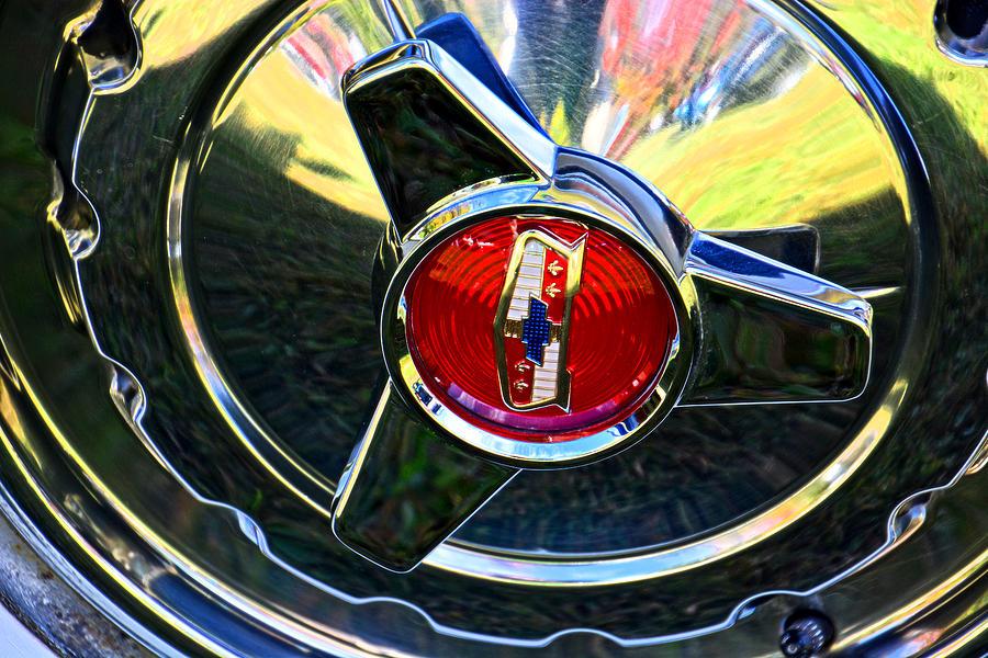 1957 Chevrolet Hub Cap by Mike Martin