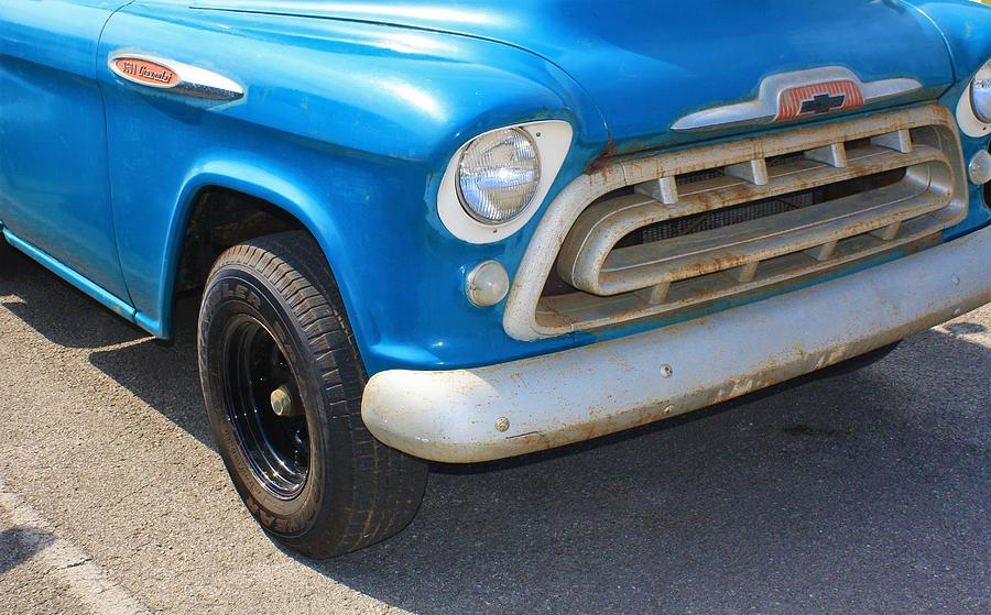 Chevy Photograph - 1957 Chevy - Chevrolet Pickup Grille And Logos by WHBPhotography Wallace Breedlove