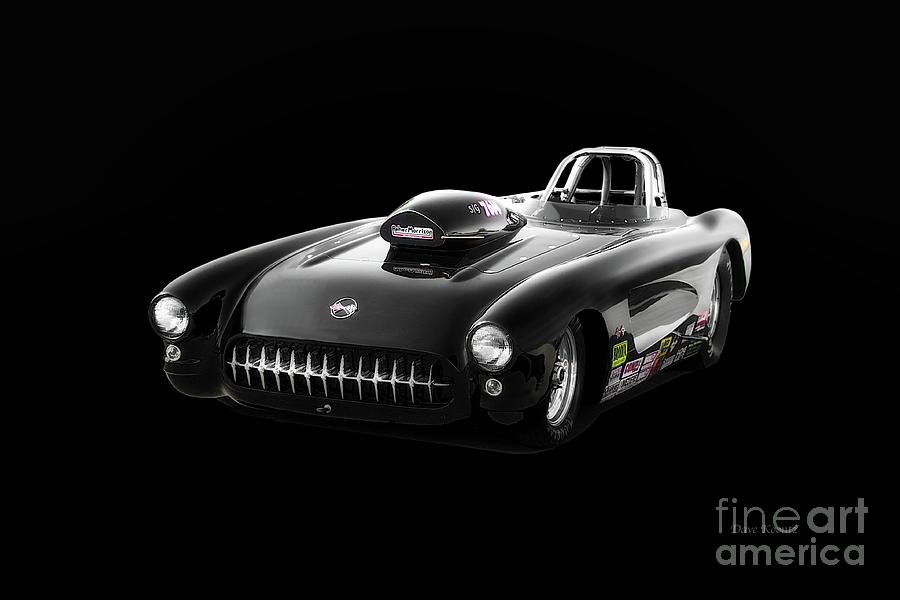 Auto Photograph - 1957 Corvette Drag Car by Dave Koontz