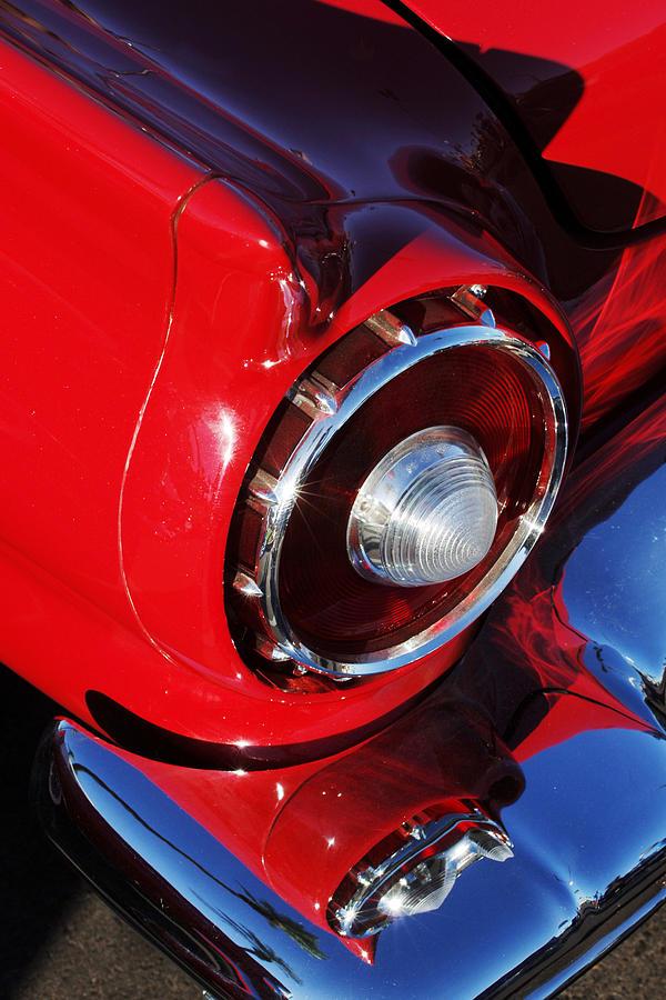 Car Photograph - 1957 Ford Thunderbird Taillight by Jill Reger