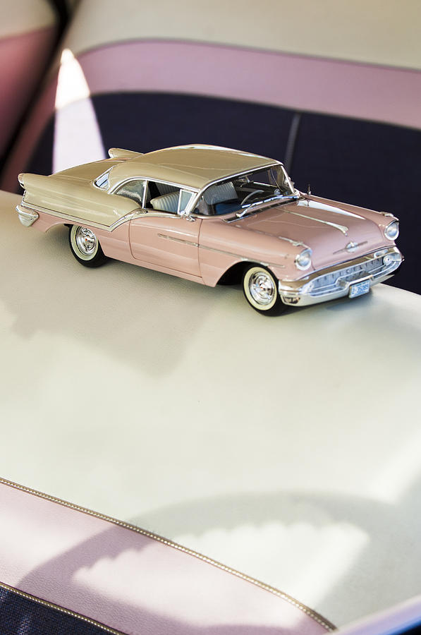 1957 Oldsmobile Super 88 Photograph - 1957 Oldsmobile Super 88 Matchbox Car by Jill Reger