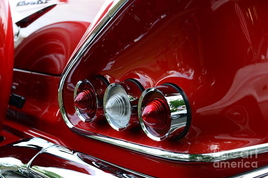 1958 Photograph - 1958 Impala Tail Lights by Paul Ward