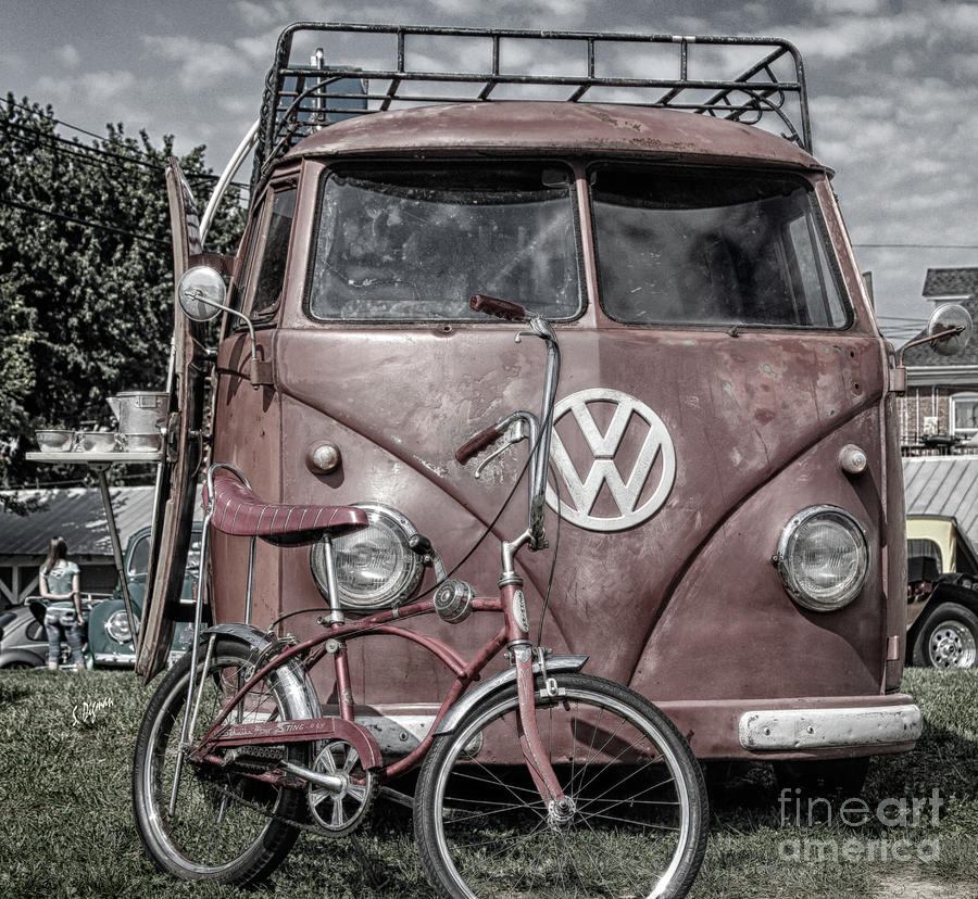 Cars Photograph - 1958 Volkswagen  by Steven Digman