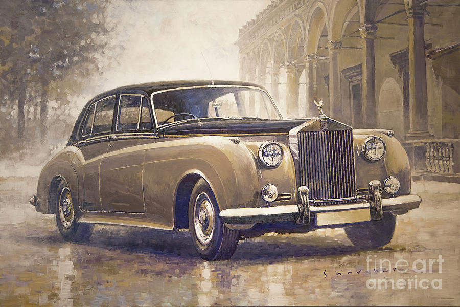 Automotive Painting - 1959-62 Rolls-royce Silver Cloud II by Yuriy Shevchuk