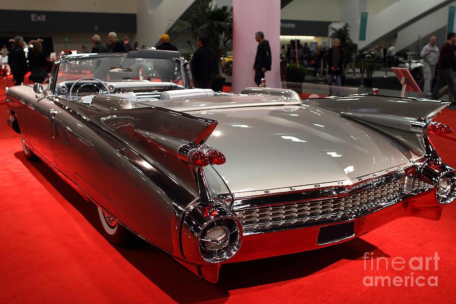1959 Cadillac Eldorado Convertible Photograph - 1959 Cadillac Convertible . Rear Angle by Wingsdomain Art and Photography