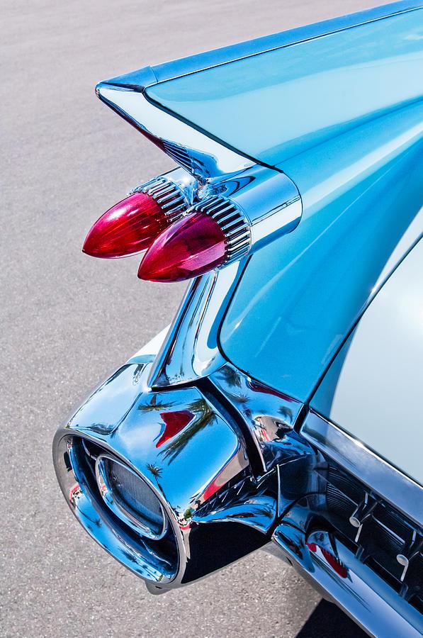 Taillight Photograph - 1959 Cadillac Eldorado 62 Series Taillight by Jill Reger