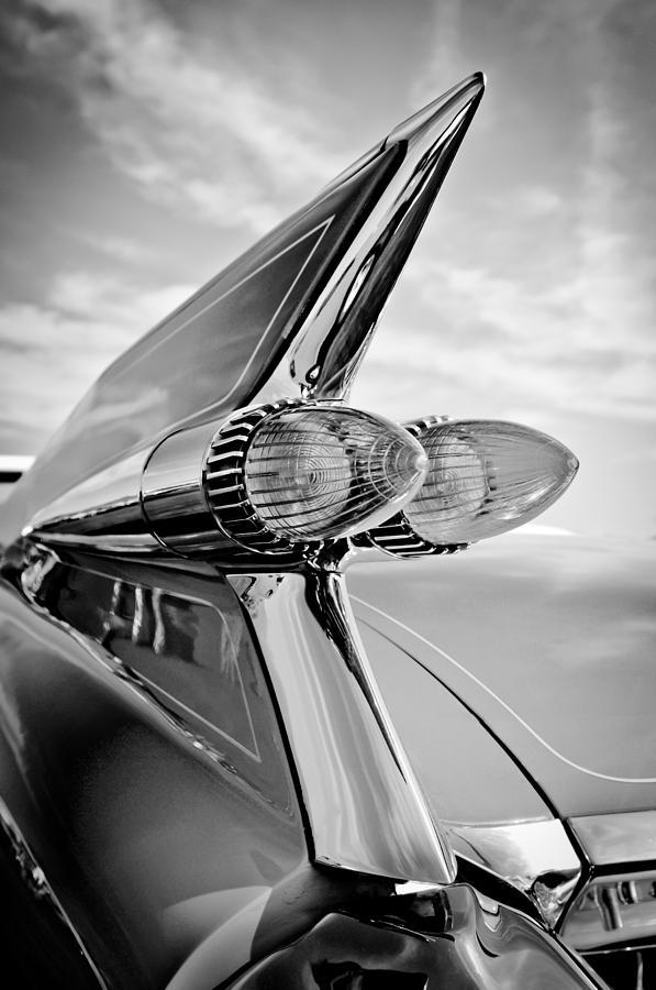1959 Cadillac Taillights Photograph - 1959 Cadillac Eldorado Taillight- Pink by Jill Reger