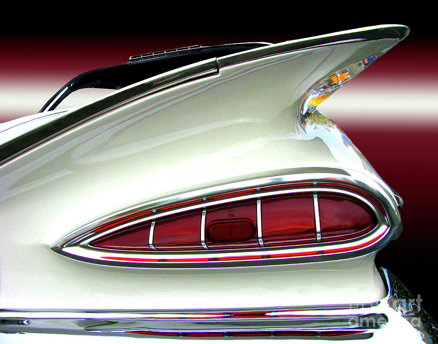 Transportation Photograph - 1959 Chevrolet Impala Tail by Peter Piatt