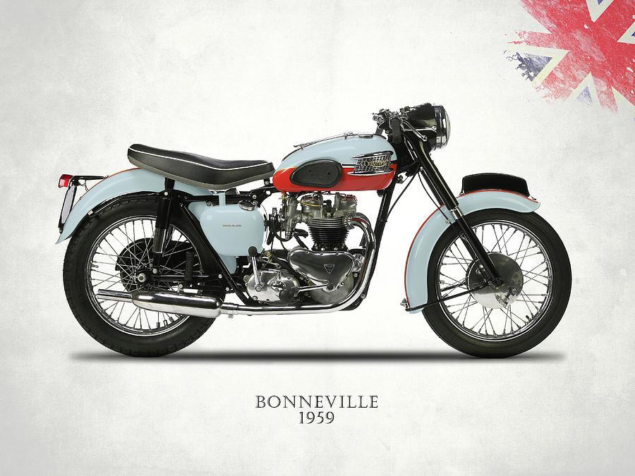 Triumph Bonneville Photograph - 1959 T120 Bonneville by Mark Rogan