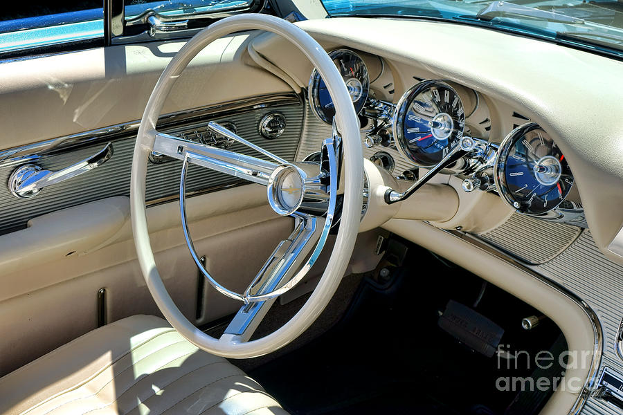 1961 Ford Thunderbird Dashboard Photograph By Olivier Le Queinec