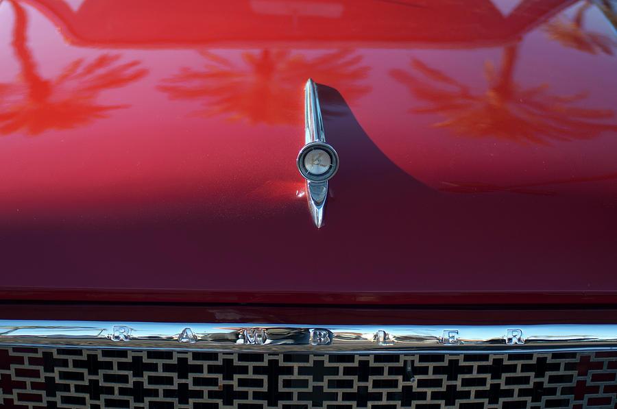 Hoodie Photograph - 1961 Rambler Hood Ornament 2 by Jill Reger